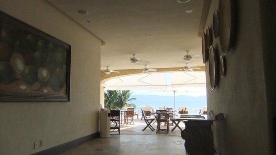 Casa Velas:                   Entranceway to Beach club