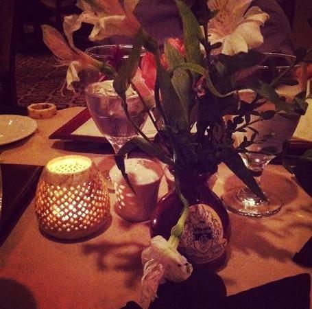 Goldmoor Dining:                   The elegant table setting