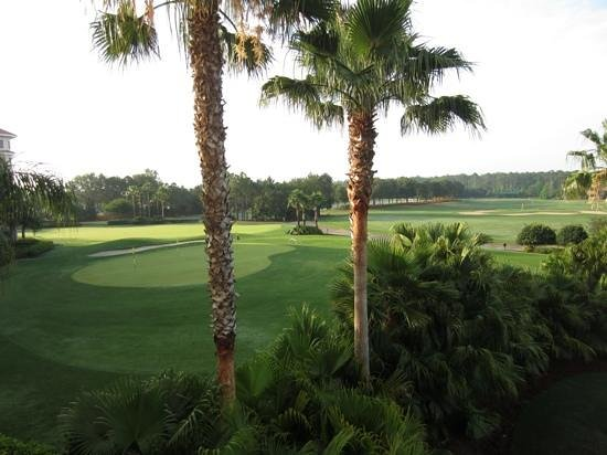 Marriott's Grande Vista:                   view of golf course from our balcony