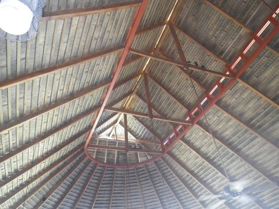 Bahia del Sol Beach Front Hotel & Suites:                   The huge thatched roof over the restaurant