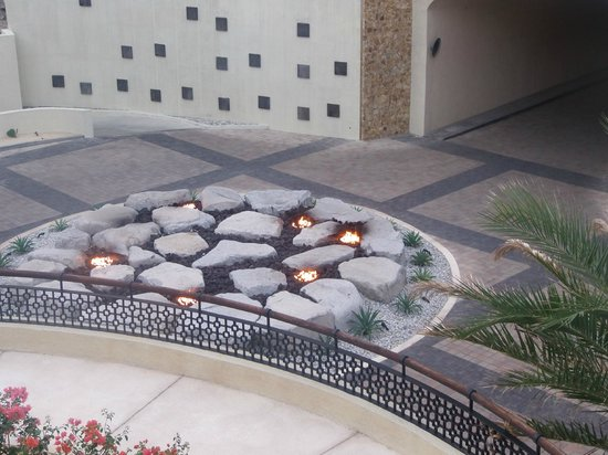 The Resort at Pedregal:                   firepit at end of tunnel