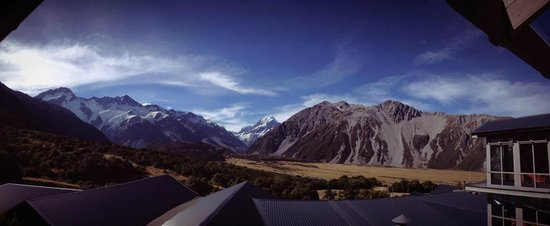 The Hermitage Hotel:                   Mt Cook view room