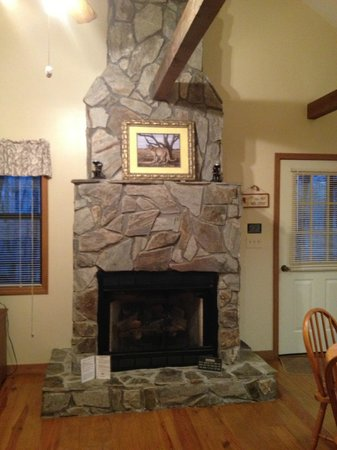 Alpine Cabins:                   easy to use fireplace