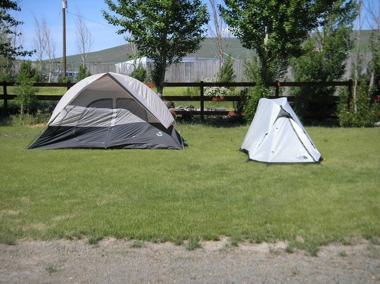 Log House RV Park & Campground: Tent camping. Electric available