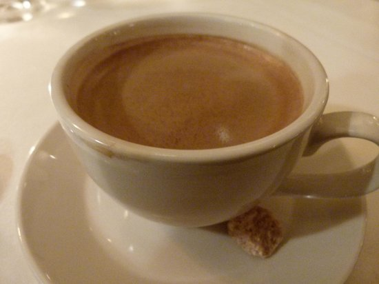 Back Bay Grill : a final double espresso - pulled long with a little cube of good sugar.