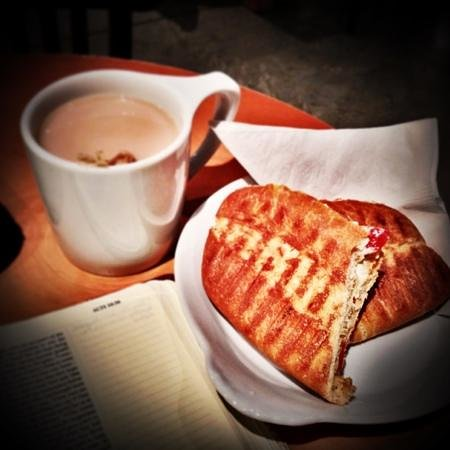 The Ledge Community Coffee House : grown up grilled cheese sandwich