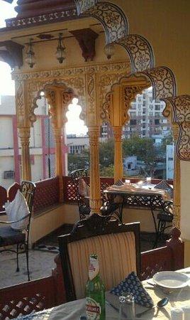 Umaid Bhawan Palace Jodhpur:                   Small part of the rooftop restaurant