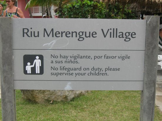 ClubHotel Riu Merengue:                   The Village sign
