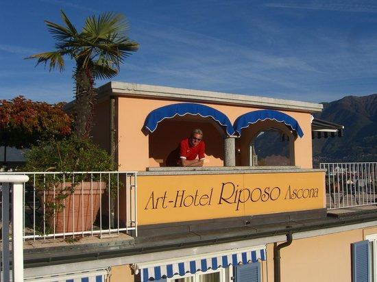 Art Hotel Riposo :                   auf der Dachterasse
