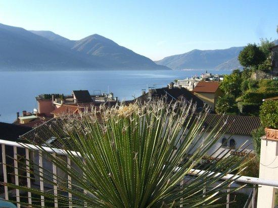 Art Hotel Riposo:                   Sicht auf der Dachterasse