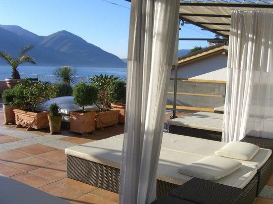 Art Hotel Riposo:                   Sicht von der Sonnenliege