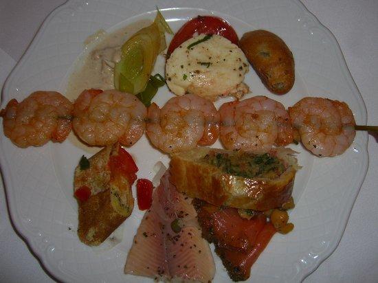 Art Hotel Riposo:                   mein Teller alles vom Buffet