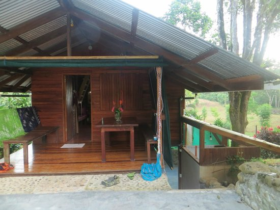 Osa Rainforest Rentals:                   lovely outdoor writing/birding/reading/dining/ area
