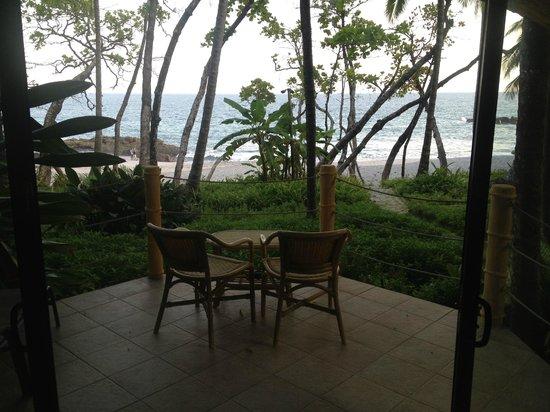 Ylang Ylang Beach Resort :                   View from inside Bungalow 3