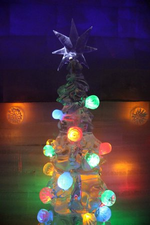 Chena Hot Springs Resort:                   ice museum - christmas tree in one of the rooms