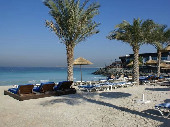 Dubai Marine Beach Resort and Spa:                   beach view