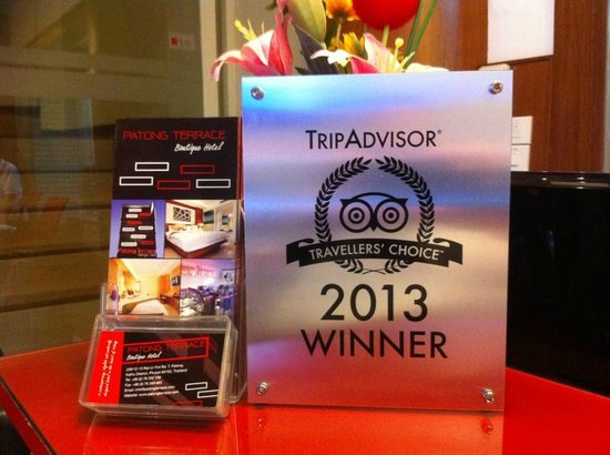 Patong Terrace Boutique Hotel: We a proud winner of 2013 travellers choise!