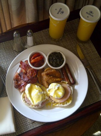 Hilton Trinidad and Conference Centre:                   Full  English Breakfast
