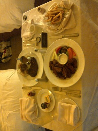 Hilton Trinidad & Conference Centre:                   Rib-Eye Steak and Coffee Wings