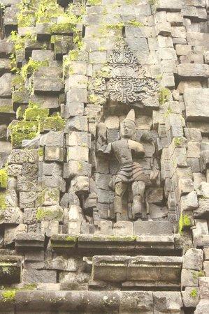 Kalasan Temple:                   moss covered stone