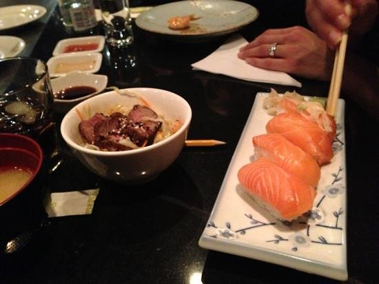 Teppanyaki Nippon :                   great sushi but watch out as you get charged 2.50 euro for ginger.....random