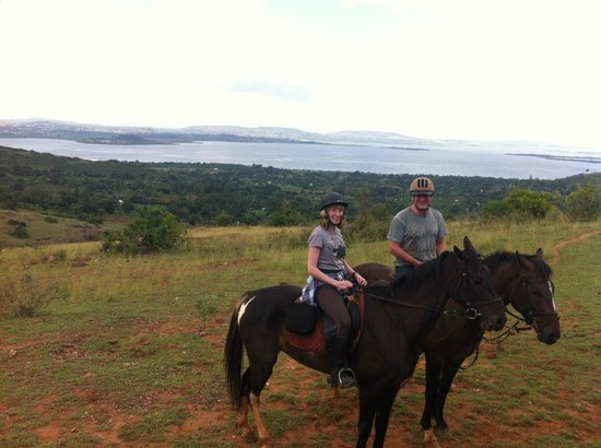 Nile Horseback Safaris - Day Tours :                   My OH and me