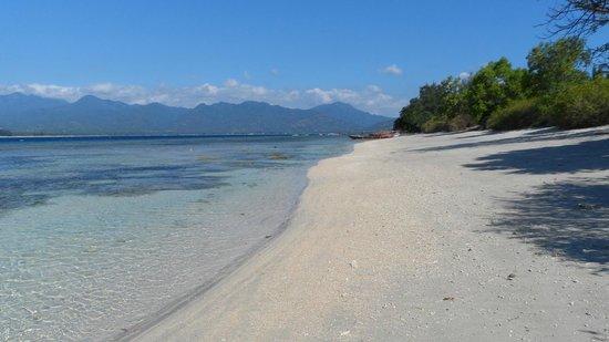 Coconut Cottages:                   la spiaggia di Gili Air