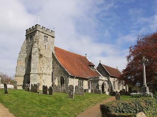 Arreton, UK:                   Church of St.George, April