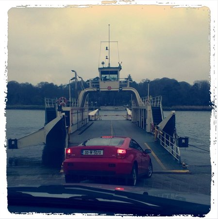 Waterford Castle Hotel & Golf Resort:                                     Ferry crossing to the island