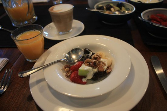 TARA Guest House:                   Muesli served with fruits & nuts