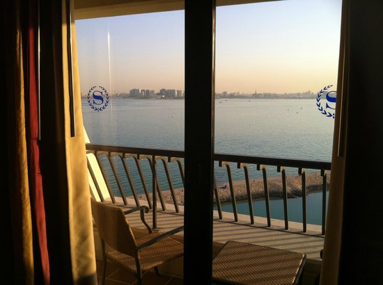 Sheraton Grand Doha Resort & Convention Hotel :                   View from room over balcony