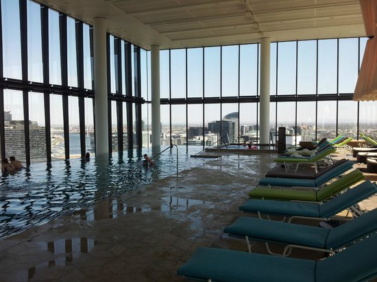 Crown Metropol Melbourne :                   pool area floor 27