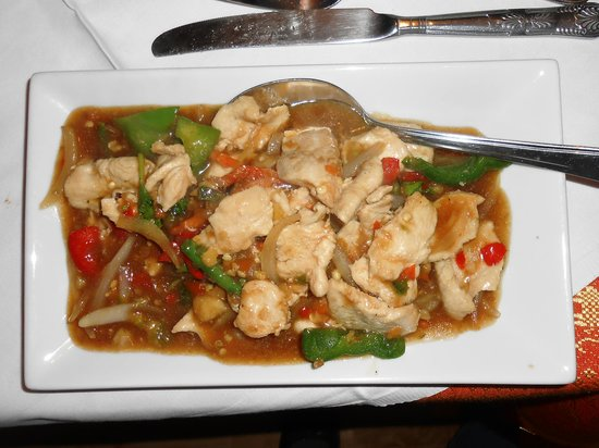 Bann  Thai Restaurant:                                                       Bann Thai's Chicken - Tasty and Generously