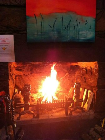 Inverness Student Hotel: Our fabulous real fire!
