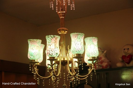 Decent Lites:                                                                         Hand-ornate, colorful ch