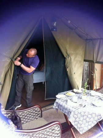 Woodbury Tented Camp, Amakhala Game Reserve:                   Our tent