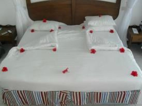 Voyager Beach Resort:                   flowers placed on our bed by room service