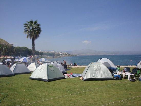 Camping near spa Hamat Tiberias