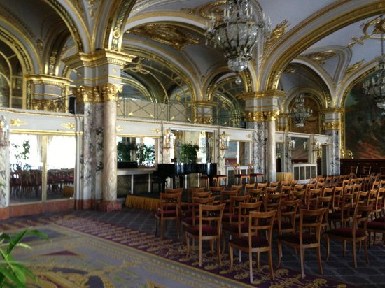 Hotel de Paris Monte-Carlo:                   Salle Empire with Yamaha