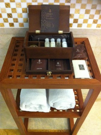 The Danna Langkawi, Malaysia:                   crabtree and evelyn toiletries in our toilet