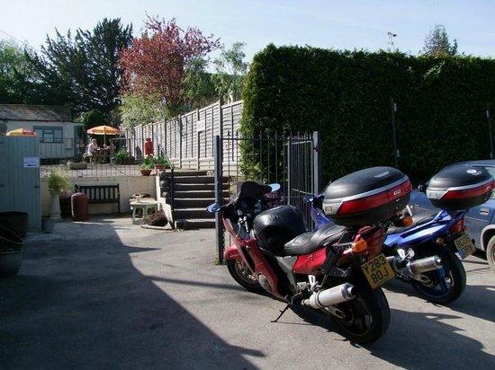 Outside Bringsty Cafe