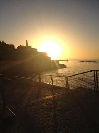 Dan Panorama Tel Aviv:                   sunset over Old Jaffa