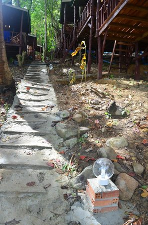 Phi Phi Power Beach Resort:                                     The famous steps leading to the resorts uphill