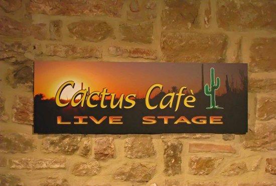 Cactus Cafe: Logo Cactus palco