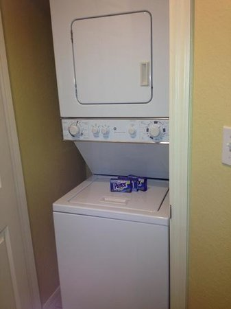 Holiday Inn Club Vacations At Orange Lake Resort:                   stackable washer dryer in river island one bedroom lock off