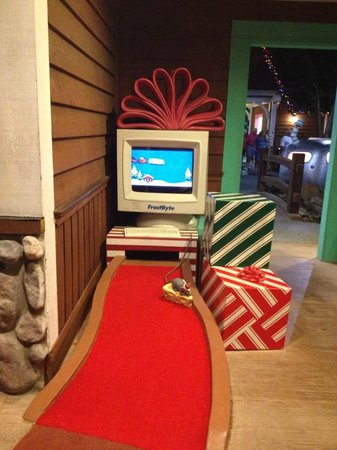 Disney's Winter Summerland Miniature Golf Course:                   The final hole is a blast from the past.