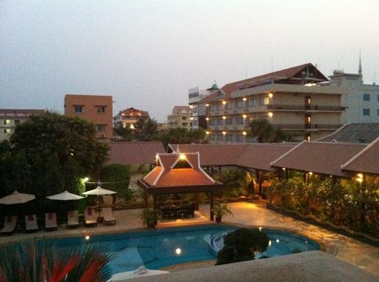 Lucky Angkor Hotel:                                     View through our hotel room window