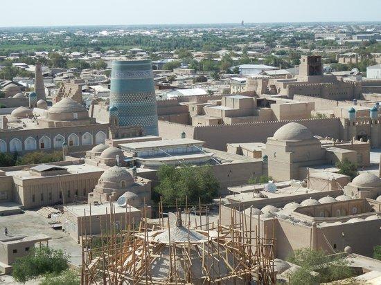 Khiva, Ουζμπεκιστάν:                   イチャン・カラを展望