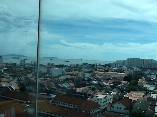 Revolving Restaurant:                   Penang Bridge view