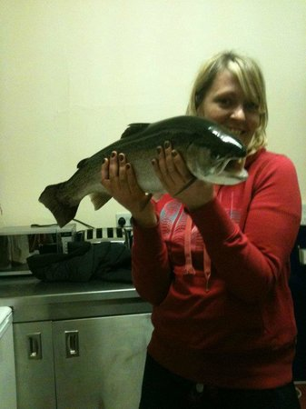 Pitlochry Backpackers Hotel: Dinner caught locally!